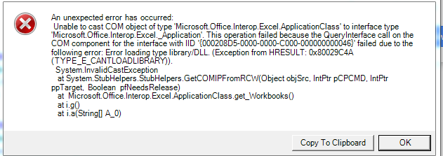 About Computer: Unable to cast COM object of type 'Microsoft