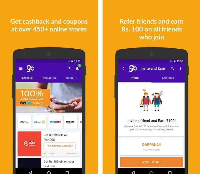 GoPaisa - Earn Money & Help your friends to save Rs.50