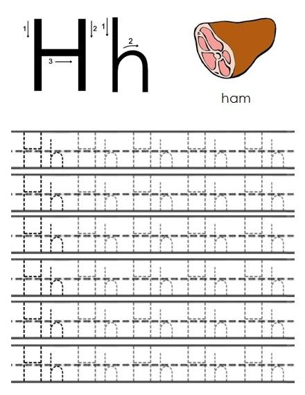 free printable worksheets the alphabet letter h. Black Bedroom Furniture Sets. Home Design Ideas