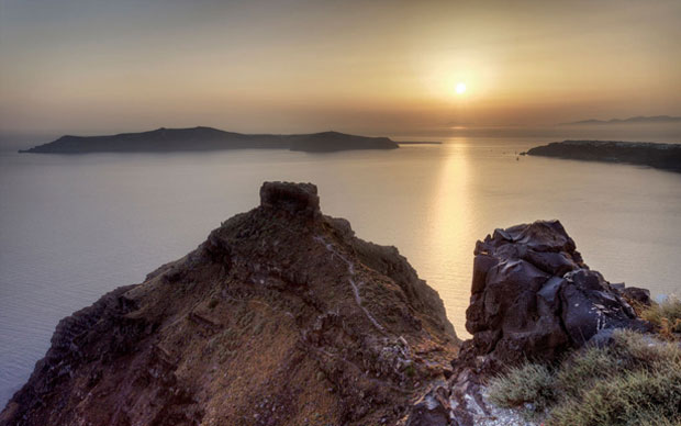 Pôr-do-sol em Imerovigli, Santorini