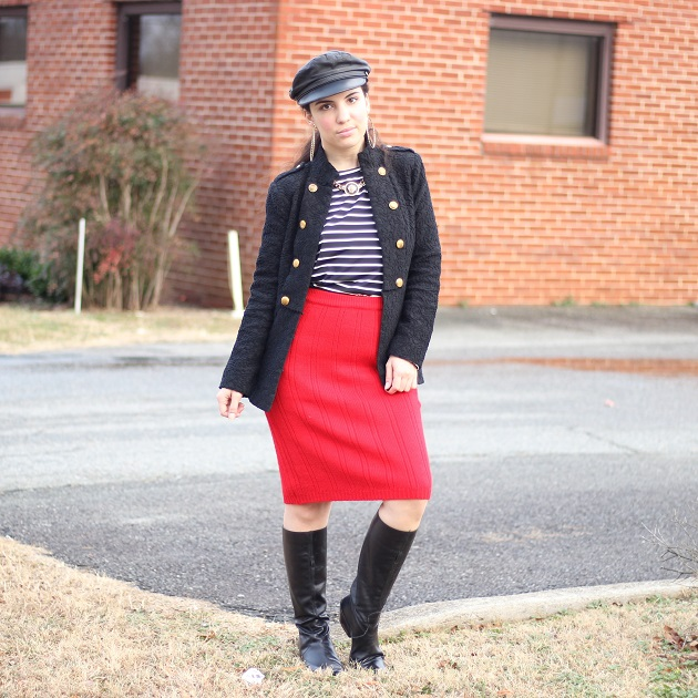 Red Sweater Skirt