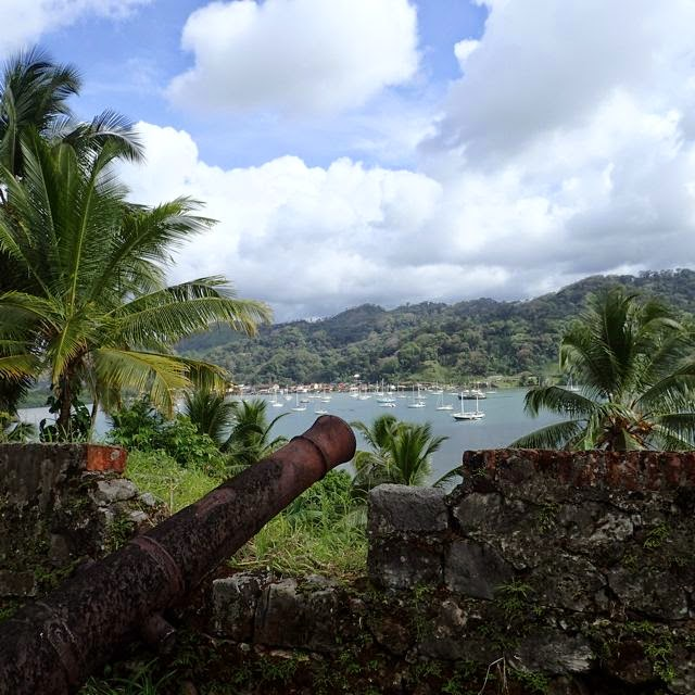 fort san fernando overview of portobelo panama anchorage