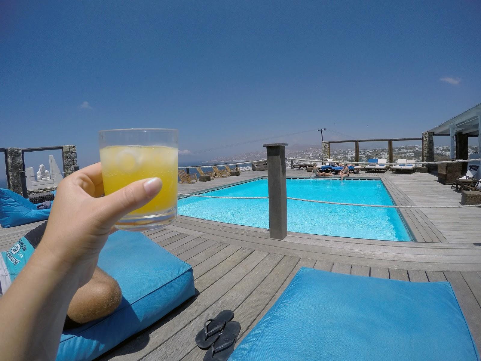 Tharroe of Mykonos Drinks by Pool