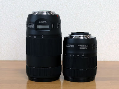 Canon EF70-300mm F4-5.6 IS II USM & EF-S18-135 F3.5-5.6 IS USM 比較