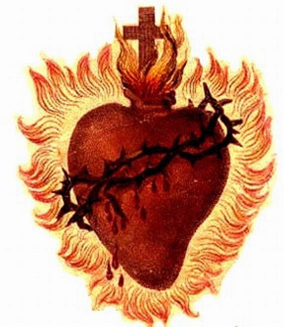 Immaculate Heart Mary Tattoo