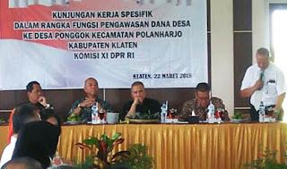 Jadi Percontohan Pengelolaan BUMDes Desa Ponggok di Kunjungi Komisi XIDPR RI