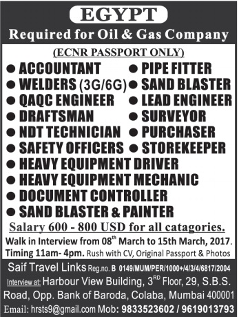 Recruitment To Oil Amp Gas Company In Egypt