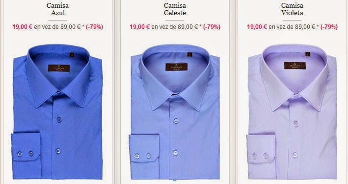 Camisas azules para hombre de la marca Torrente