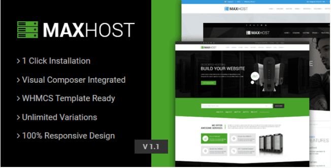 FREE THEMES: MAXHOST V2 8 – WEB HOSTING, WHMCS & CORPORATE