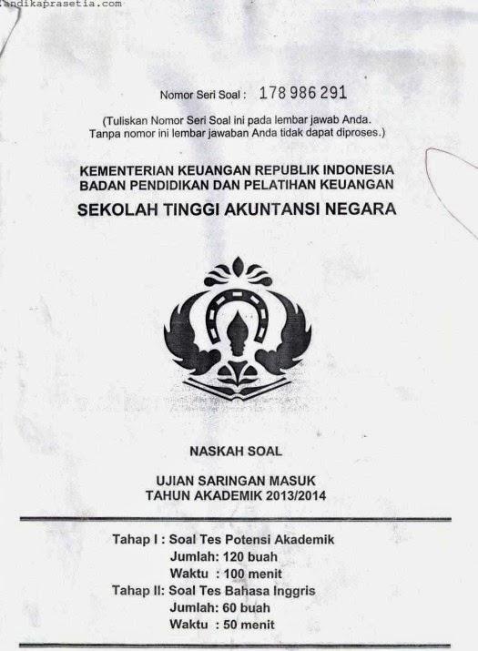Soal, Kunci Jawaban, dan Pembahasan Ujian Saringan Masuk (USM) STAN 1990 s.d. 2014