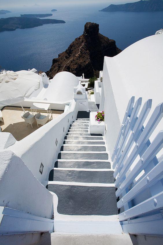 Stairway to heaven in Imerovigli,Santorini - Ioanna's Notebook