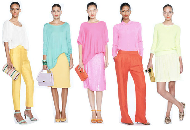 Beautiful wearable spring colours