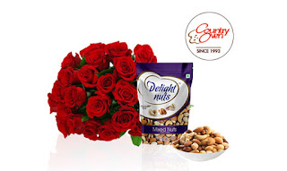 Roses and Mixed Nuts Combo