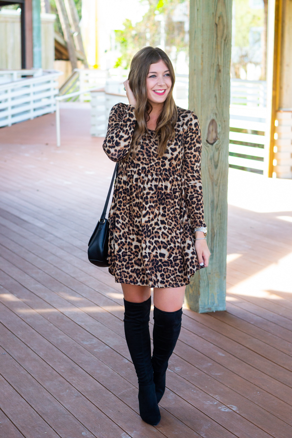 Leopard Print Dress | Chasing Cinderella Blog