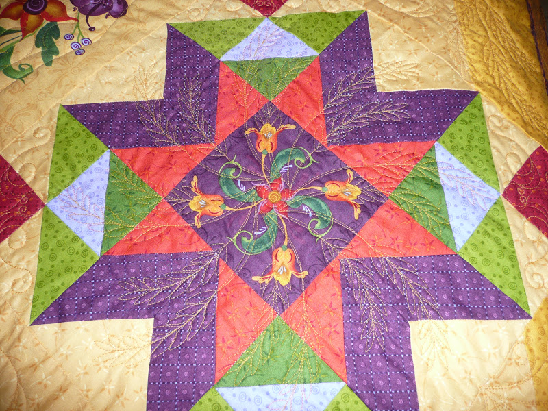 All Quilted Sheaves of Wheat Quilt Photo 3 |Wheat Quilt Patterns