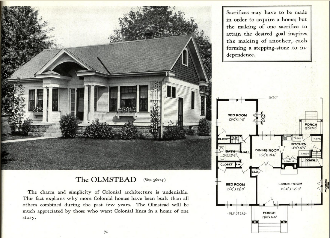 sears crescent lookalike clone standard homes olmstead