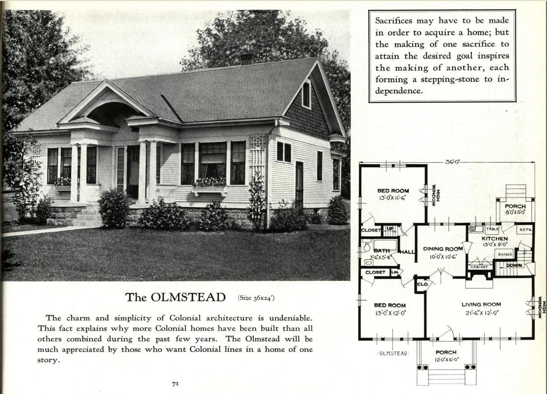 sears crescent lookalike clone standard homes olmstead