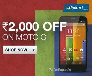 Flat Rs.2000 Off Discount on Moto G on Flipkart - Rs.10499