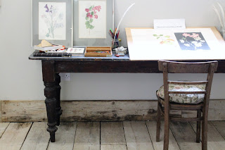 Artist's Desk on display at Burtown House