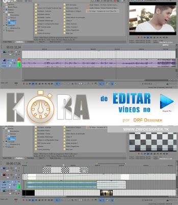 Hora de Editar Vídeos no Vegas 13. Arte e Logomarca de desenvolvendo um vídeo no Sony Vegas Pro 13. Contrate um editor de vídeos. Petrolina - PE