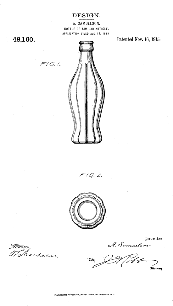 Coca-Cola contour bottle patent