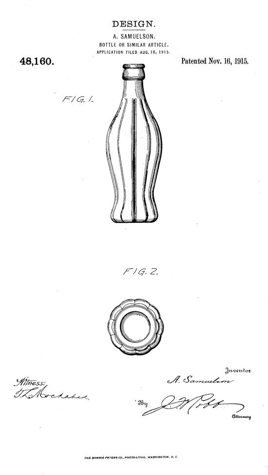 Coca-Cola contour bottle patent