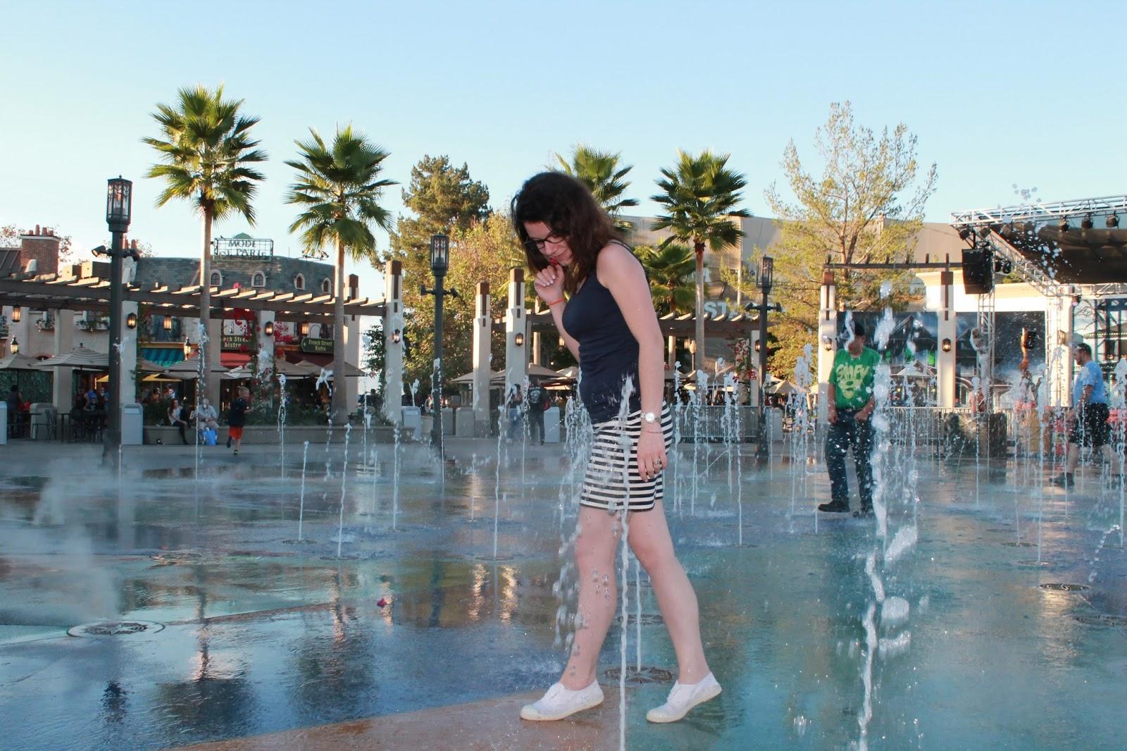 USA états unis amérique vacance transat roadtrip ouest américain universal studios fontaine jet d'eau