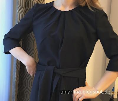 Schleifenbänder am Kleid aus der Burda 3/16 - tolles Schnittmuster
