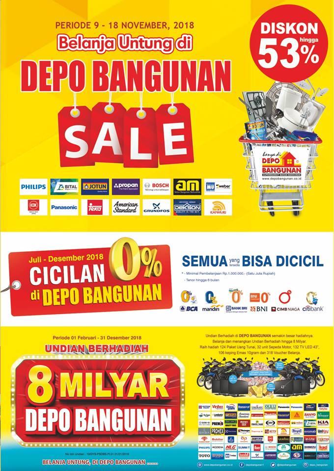 DepoBangunan - Promo Katalog Depo Bangunan Sale VI (sd. 18 Nov 2018)