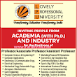 Lovely Professional University, Phagwara, Wanted Teaching Faculty - Faculty Plus Teachers