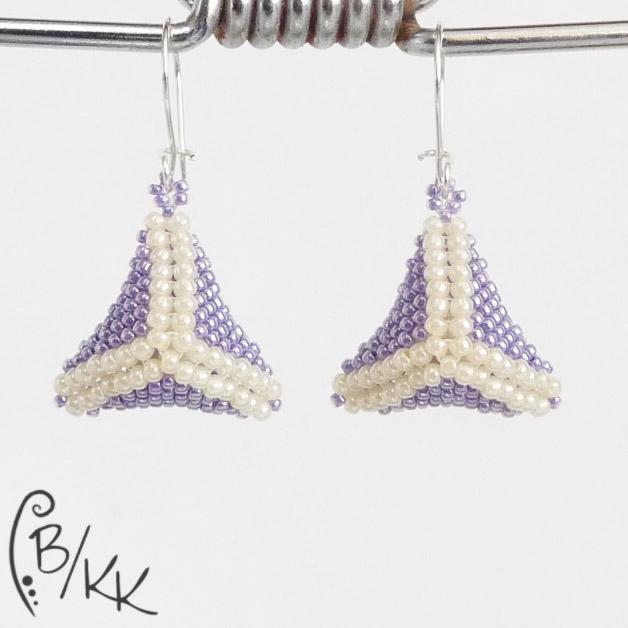 kolczyki peyote trójkąty | peyote triangle earrings
