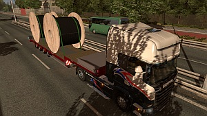 2 big cable rolls trailer