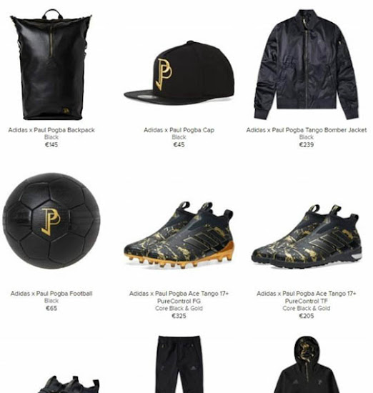 de32b40b7b ... Paul Pogba ball that is available for 65 Euro as well as the Adidas  Paul Pogba Bomber Jacket (245 Euro) and the Adidas Paul Pogba Backpack (145  Euro).