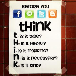 Erst denken, dann posten.