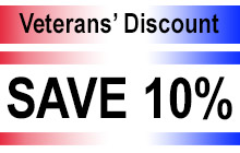 Veterans are welcome to a 10% discount at our web stores.