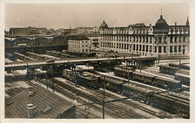 Estación de tren, Basilea, Suiza, 1928