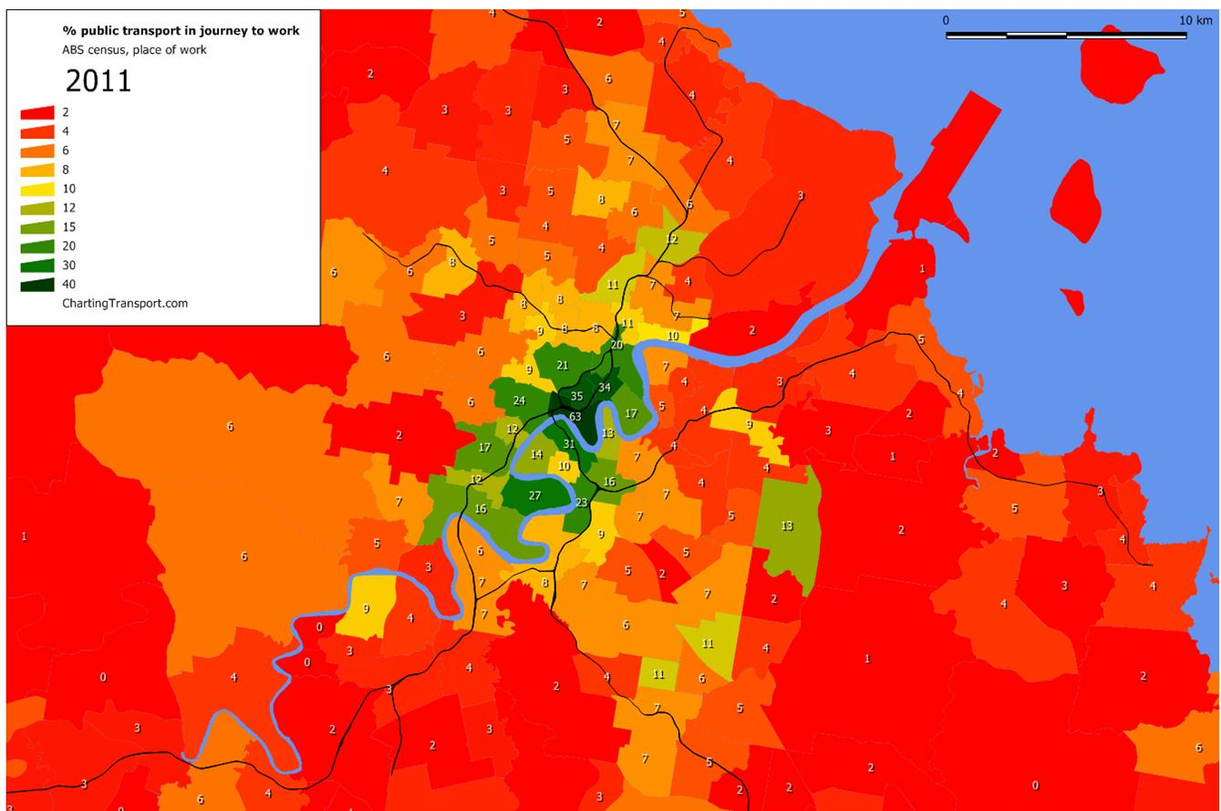 workers in middle or outer suburbs.