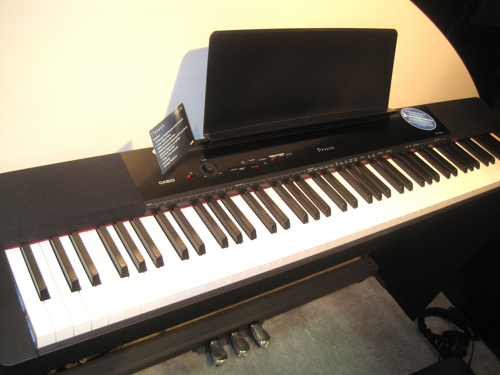 az piano reviews review casio px350 px150 privia digital pianos very nice digital. Black Bedroom Furniture Sets. Home Design Ideas