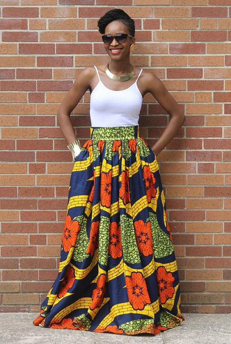 plain and pattern ankara gown (3)
