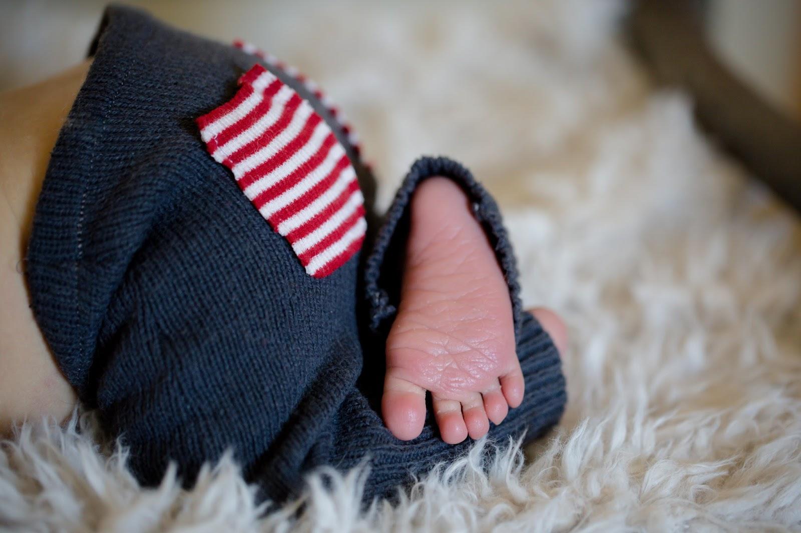 newborn foot