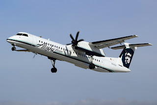 Alaska Airlines Q400 turboprop operated by Horizon Air