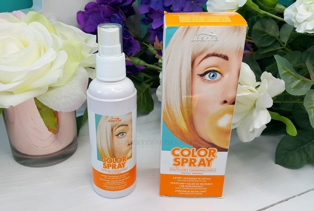 Joanna Color Spray pastelowy pomarańczowy opinie