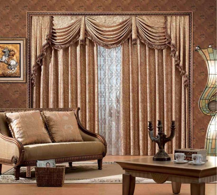 Classy Living Room Double Window Curtains Ideas With Frills And Tussles Matching Sofa Sets The Theme Is Perfect