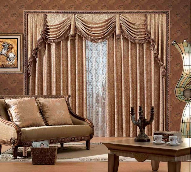 classy living room window curtains ideas with frills and tussles with matching living room sofa sets