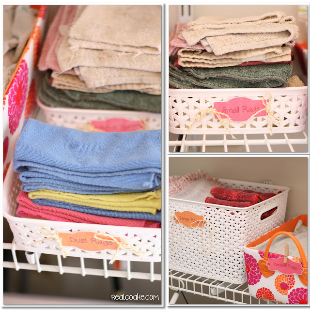 Laundry room ideas for storage and organization in a pretty and inexpensive way. #storage #organization #LaundryRoom #RealCoake