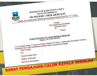 Contoh Surat Pengajuan Calon Kepala Sekolah-http://www.librarypendidikan.com/