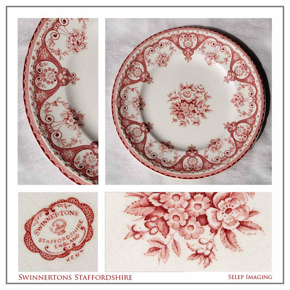 Kent Swinnertons Staffordshire china plate by Jeanne Selep Imaging
