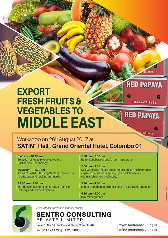 Sentro Consulting | Export Fresh Fruits & Vegetables to Middle East.