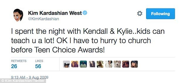 """Check out some of the most """"embarrassing"""" tweets Kim Kardashian wrote in the past"""