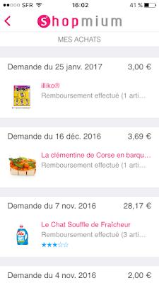 Exemple de produits remboursés shopmium